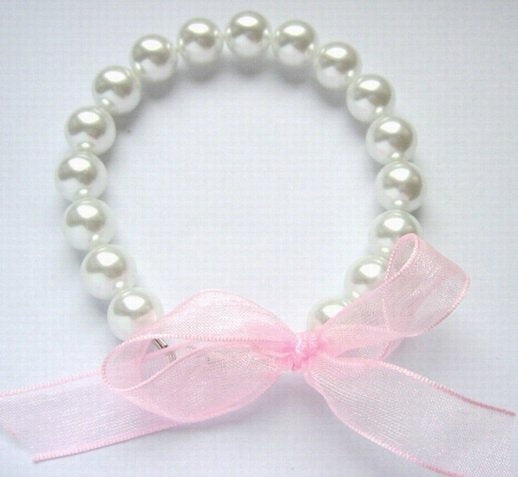 8'' 10MM WHITE SOUTH SEA SHELL PEARL RIBAND BRACELET