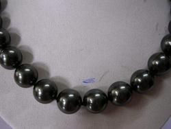 15mm Rare black Tahitian Sea Shell Pearl Necklace