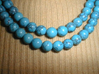 10mm 47'' blue turquoise beads / necklace
