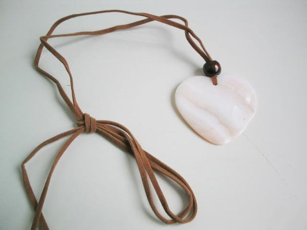 Heart Shape White MOP Shell Pendant