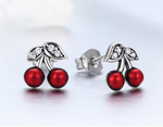 STERLING 925 SILVER THE CHERRY EARRING