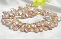 RARE 10mm-22mm CULTURED PEARL NECKLACE & BRACELET 14KCLASP