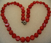 "16.5"" beautiful red coral necklace"