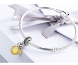 Sterling 925 silver charm the pineapple bead pendant fits Pandora charm and European charm bracelet