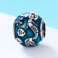 Sterling 925 silver charm the mermaid pendant fits Pandora charm and European charm bracelet