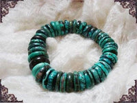 15MM Natural Color Old Turquoise Bracelet