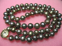 "17.5"" genuine black F/W pearl necklace"