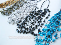 Wholesale 5 pieces jade turquoise multistrands necklaces