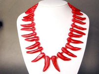 Necklace Red Coral Huge Chilli-pepper Shaped