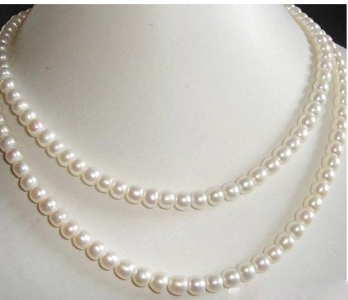 15''-17'' 2 strands ivory freshwater pearl necklace