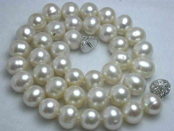 "GENUINE 17"" 11MM WHITE FW PEARL NECKLACE"