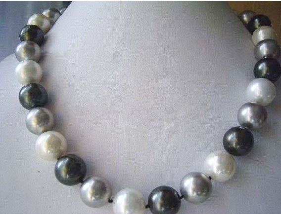 Big 14mm seashell pearl neclace 19inches