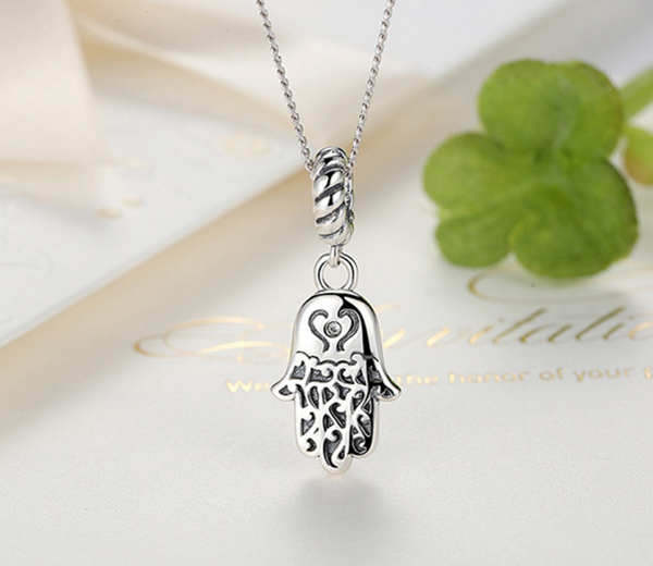 Sterling 925 silver charm doll in wind bead pendant fits Pandora charm and European charm bracelet