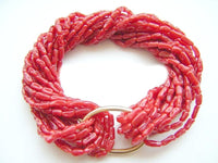 BEAUTIFUL 12ROWS RED CORAL BRACELET
