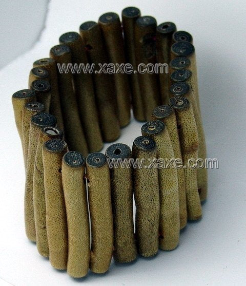 Lovely long golden sponge coral bracelet [NW1047]