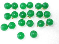 Wholesale natural 10 pairs 10mm green jade earring