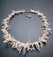 Natural Color White /pale pink Coral Branch bracelet