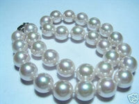 14mm Lustrous white Seashell Pearls Necklace