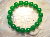 "7"" 10mm green jade bracelet"