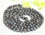 WHOLESALE BAROQUE 5 STRANDS 36'' BLACK PEARL NECKLACES