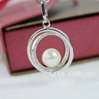 9-10mm white pearl pendant sterling silver
