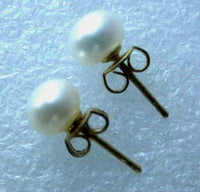 Wholesale 10 pairs 6.5-7mm white pearl S925 earring