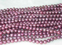 "wholesale 6-7mm 16"" wine-red pearl necklace strings"