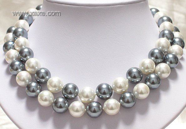 "32"" 12mm south sea shell pearl necklace"