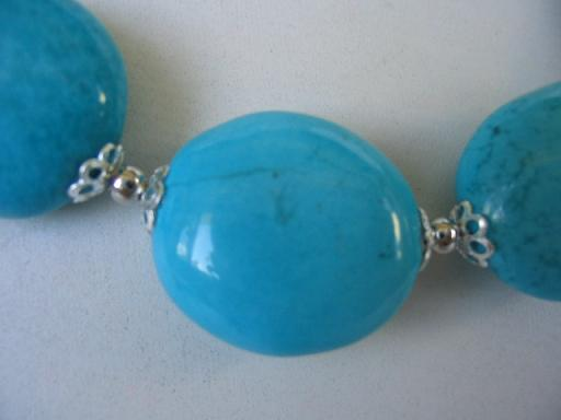 "18"" exquisite blue turquoise necklace"