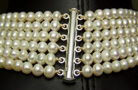 6 Strand white freshwater pearl necklace