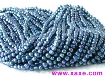 "wholesale 16"" 6-7mm blue pearl necklace strings"