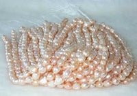 "wholesale Baroque 16"" pink pearl necklace strings"