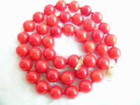 18'' 9-10mm red coral necklace
