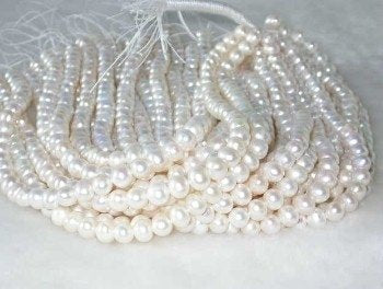 "wholesale 8-9mm 16"" white pearl necklace strings"