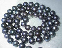"20"" lustrous 7-8mm black pearl necklace"