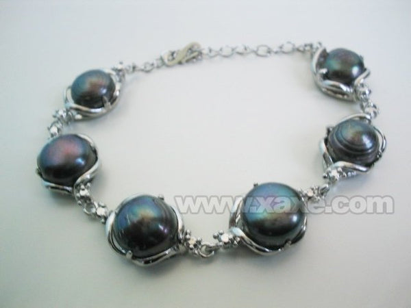 9.5'' 14mm big baroque pearl bracelet_18kgp