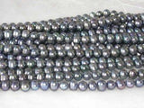 "wholesale 16"" 8-9mm peacock pearl necklace strings"