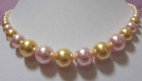 16'' 14MM L.MULTI-COLORS SEA SHELL PEARL