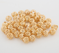 10 pcs 24k gold plated brass nest hollow beads brass caps spacer Bronze Bead Caps Filigree Bead Caps