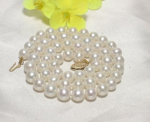 AA 6.5-7MM LUSTER CULTURED PEARL NECKLACE 14K CLASP