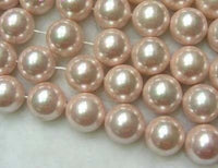 5PCS PINK SOUTH SEA SHELL PEARL LOOSE STRANDS
