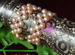 UNIQUE 2-PCS PINK Genuine Cultured Pearl Bracelets