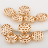 10 pcs 24k gold plated hollow button brass spacer beads  brass caps brass connector