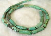 columnar 5-18mm 16'' NATURAL OLD BLUE TURQUOISE NECKLACE