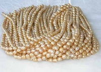 "wholesale 16"" 6-7mm yellow pearl necklace strings"