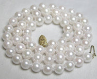 AAA GRADE 6.5-7MM SALTWATER PEARL NECKLACE 14K Clasp
