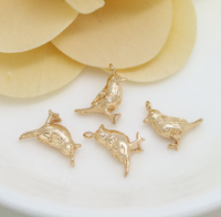 10 pcs 24k gold plated bird brass caps brass bead brass pendant brass spacer