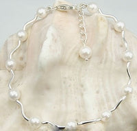 Sterling Silver AA 5.5mm Akoya Sea Pearls Bracelet