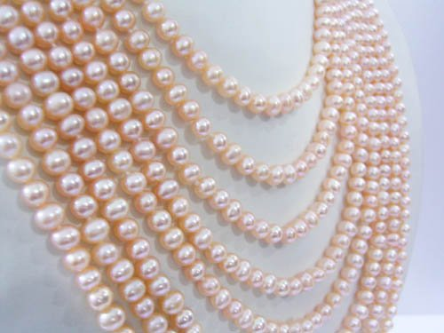 8 strand Pink freshwater pearl necklace