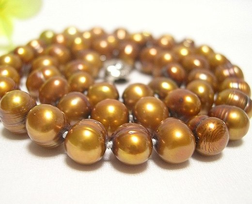 BAROQUE 17'' 8-9MM COFFEE CULTURED PEARL NECKLACE